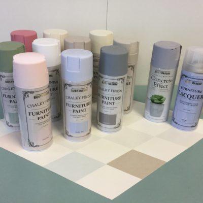 Rust Oleums kalkfärg i spray