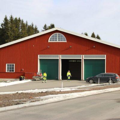 Återvinningscentralen Övreskog i Ulricehamn. Vi målade både in- och utvändigt.